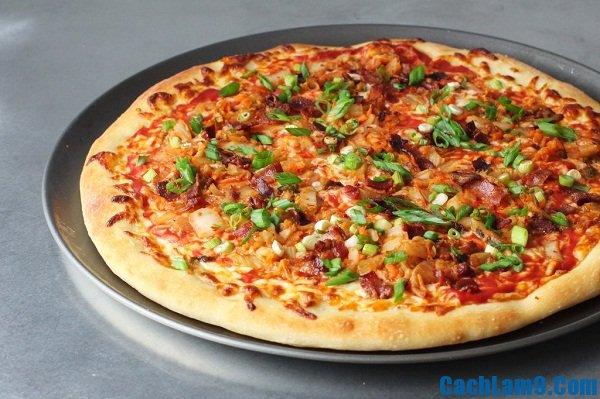 Cách làm bánh pizza kim chi