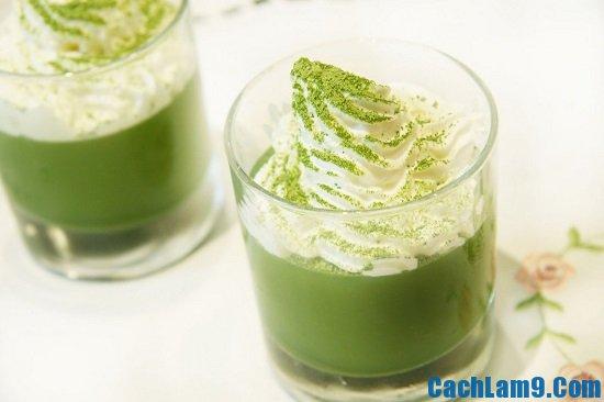 Cách làm thạch rau câu trà xanh thanh mát, giải nhiệt giảm cân