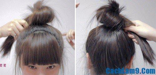Cách búi tóc củ tỏi Hàn Quốc