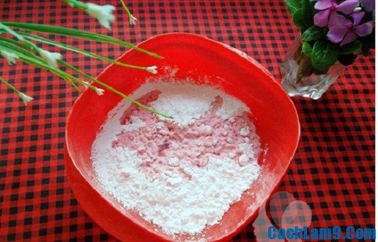 Nguyên liệu làm bánh hồng đào