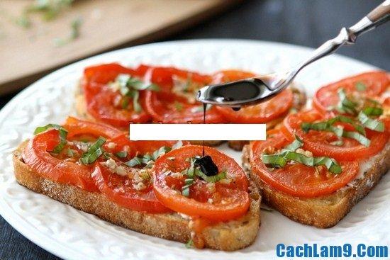 Hướng dẫn làm bánh mì cà chua và phô mai dê