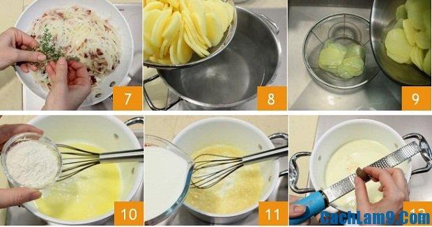 Hướng dẫn làm món bánh nướng khoai tây thịt xông khói