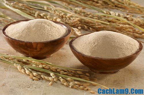Cách làm đẹp bằng cám gạo