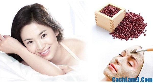 Mặt nạ bột đậu đỏ giúp trị mụn, làm mịn da