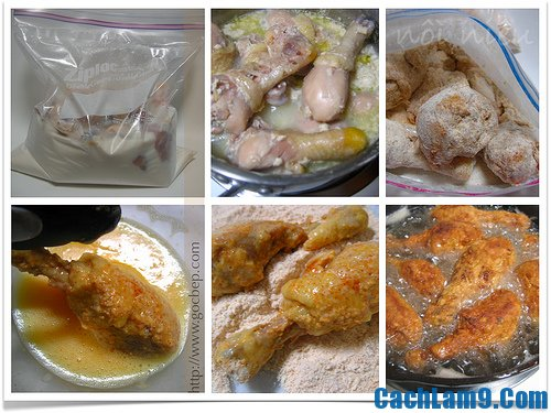Hướng dẫn làm gà rán KFC