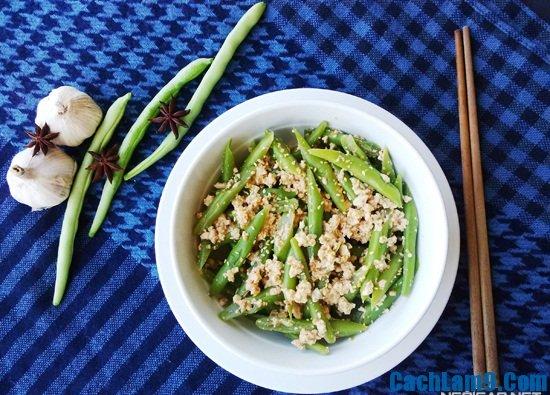 Cách làm salad đậu cô ve