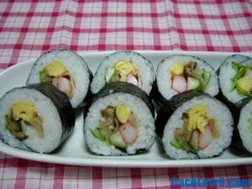 Hướng dẫn làm sushi chay