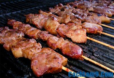 Hướng dẫn làm thịt xiên nướng BBQ