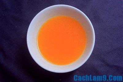 Nguyên liệu làm bánh cam phủ caramen