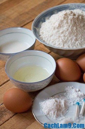 Nguyên liệu làm bánh Phú Sĩ