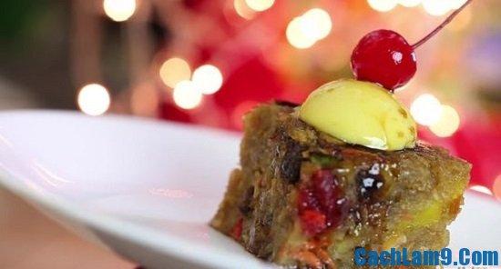 Cách làm bánh Pudding thập cẩm