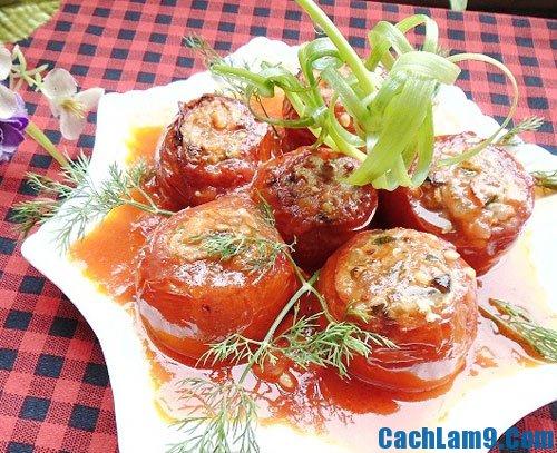 Cách làm cà chua nhồi thịt