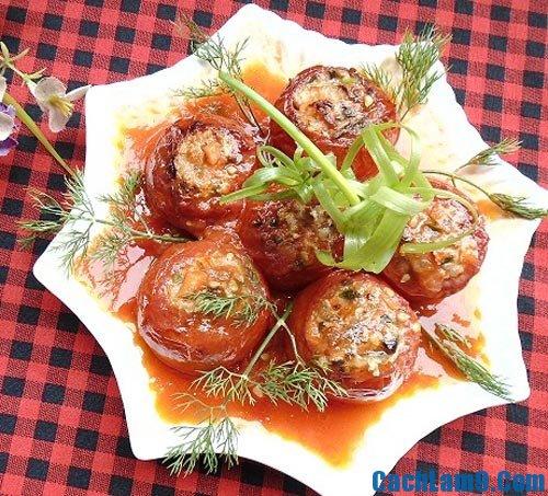 Hướng dẫn làm cà chua nhồi thịt