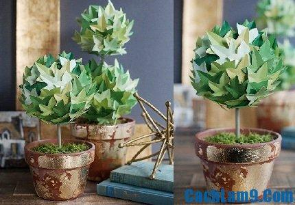 Cách làm cây xanh bằng giấy