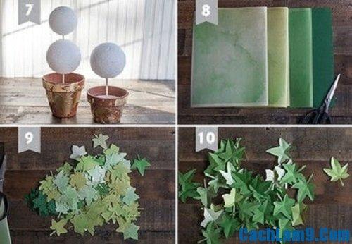 Hướng dẫn làm cây xanh bằng giấy