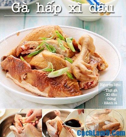 Cách làm gà hấp xì dầu