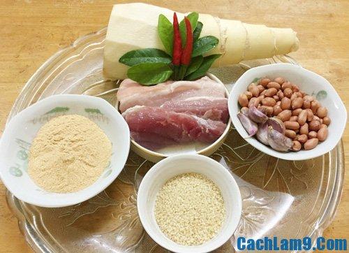 Cách làm gỏi măng thịt trộn thính
