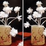 Cách làm hoa đào bằng giấy trắng đơn giản mà đẹp