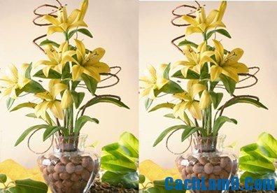 Cách làm hoa ly từ đất sét