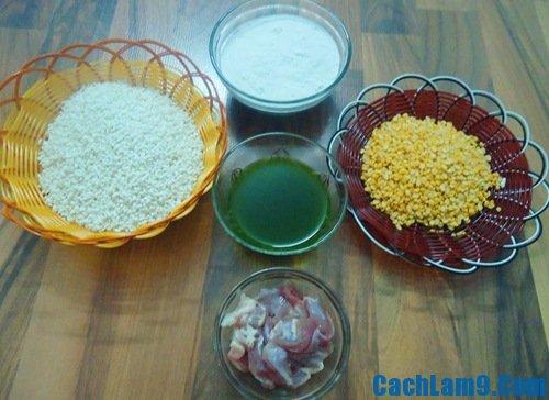 Cách làm xôi bọc lá dứa đậu xanh