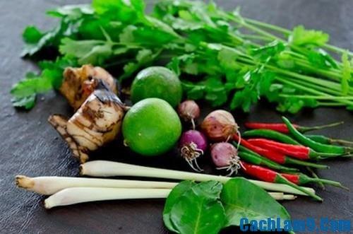 Nguyên liệu nấu canh Tom Yum Goong