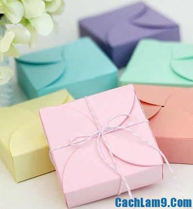 Cách gấp hộp quà bằng giấy