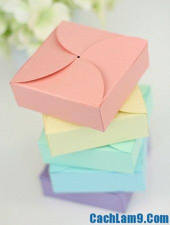 Hướng dẫn gấp hộp quà bằng giấy
