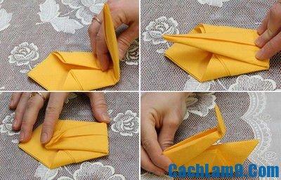 Hướng dẫn gấp khăn ăn hình thiên nga