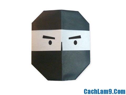 Hướng dẫn gấp mặt nạ Ninja