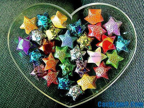 Cách gấp ngôi sao giấy may mắn đẹp lung linh