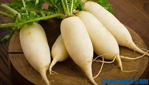 Nguyên liệu làm bánh củ cải