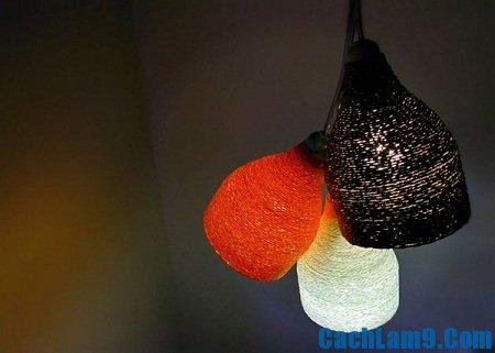 Hướng dẫn làm đèn treo trần nhà từ chai lọ