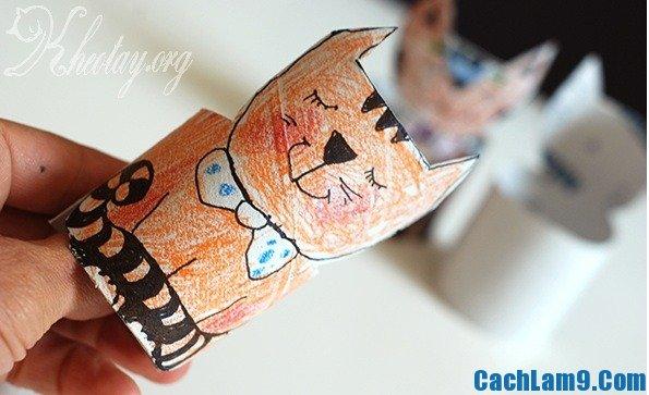 Hướng dẫn làm con mèo bằng lõi giấy vệ sinh