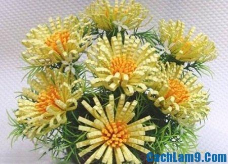 Hướng dẫn làm làm hoa cúc giấy gợn