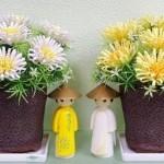 Cách làm hoa cúc bằng giấy gợn