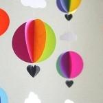 Cách làm khinh khí cầu bằng giấy cho bé yêu
