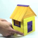 Cách làm ngôi nhà bằng que kem cực độc đáo