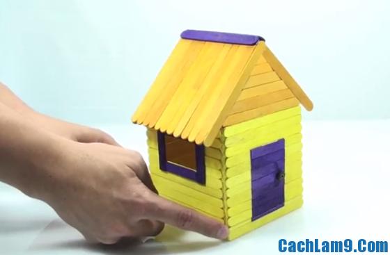 Cách làm ngôi nhà bằng que kem