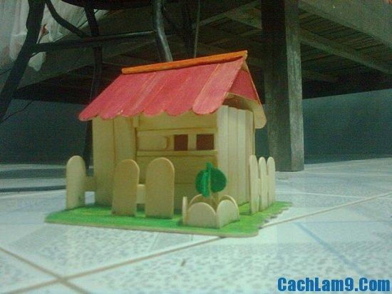 Hướng dẫn làm ngôi nhà bằng que kem