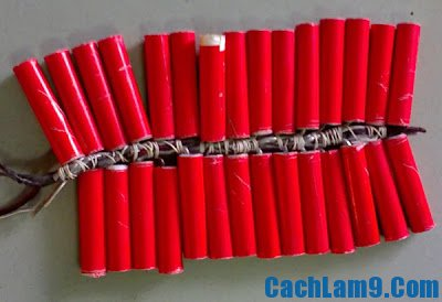 Cách làm pháo nổ bằng diêm an toàn cho ngày Tết