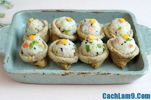 Cách làm sushi đậu hũ chiên