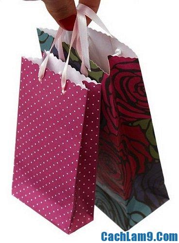 Hướng dẫn làm túi xách bằng giấy