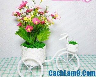 Hướng dẫn làm xe đạp hoa
