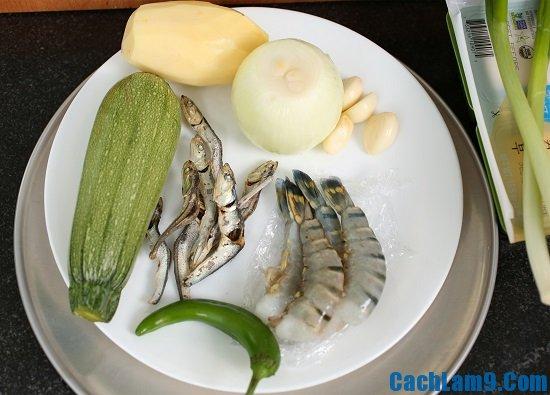 Nguyên liệu nấu canh đậu tương lên men