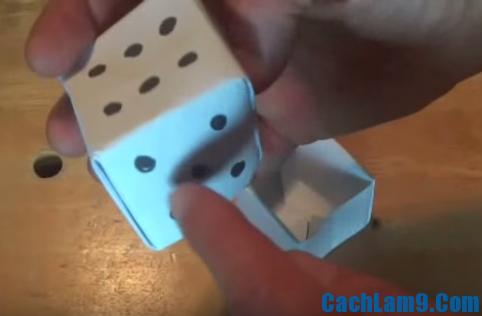 Hướng dẫn xếp xúc xắc bằng giấy