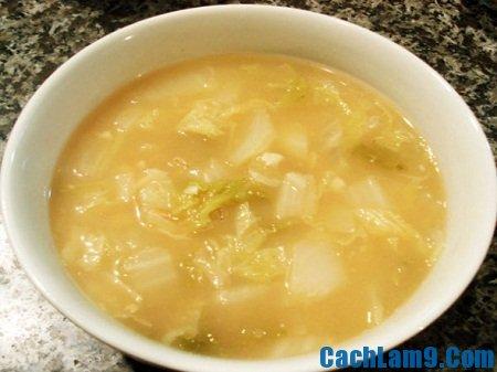 Cách làm súp cải thảo đậu nành