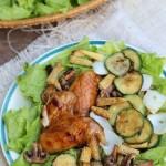 Bật mí cách làm cánh gà và rau củ nướng thơm ngon