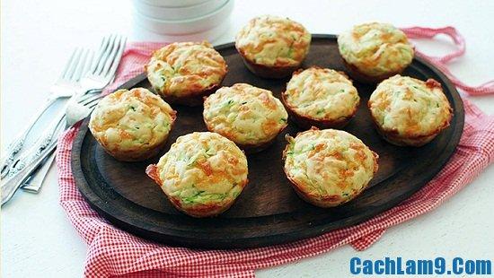 Cách làm muffin bí xanh vị bơ tỏi thơm ngon