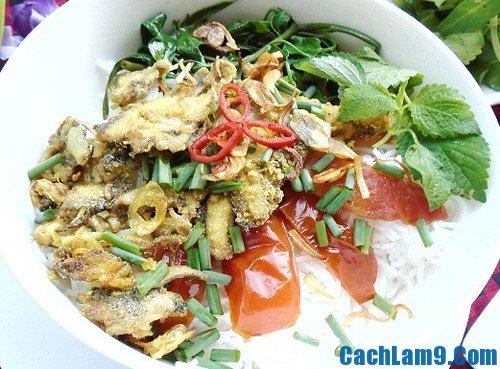 Hướng dẫn nấu bún cá rô đồng