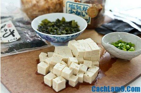 Nguyên liệu làm món canh Miso Nhật Bản